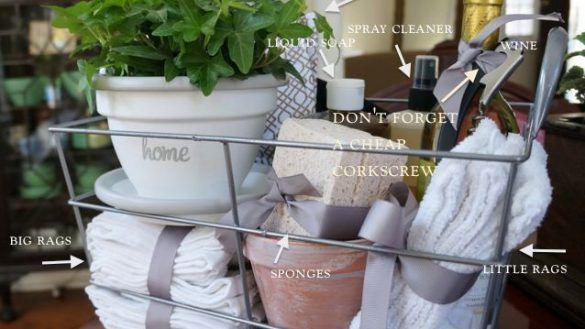 Basket great housewarming  make  pretty and practical inside ideas prepare of also rh pinterest