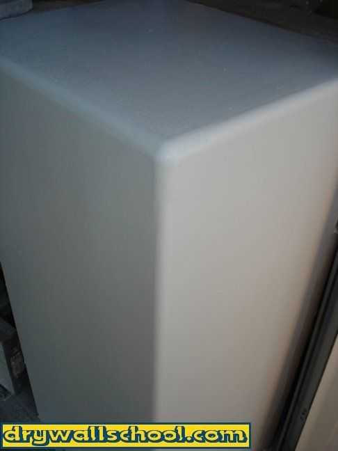 Finished Drywall Bullnose Corner Bead : How to coat bullnose corners rib pinterest