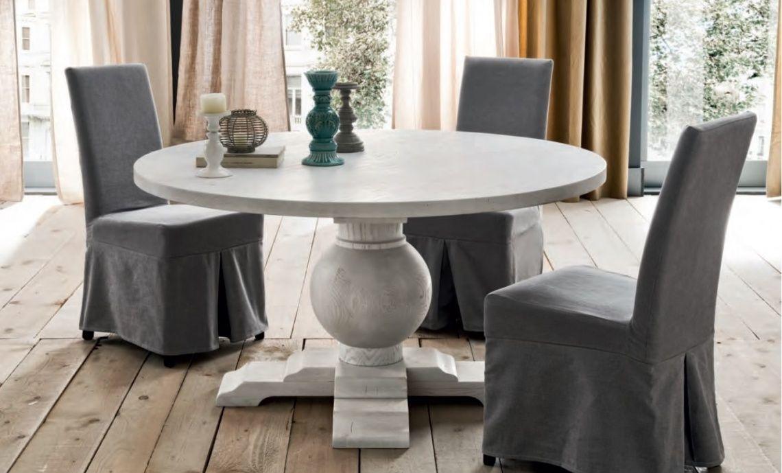 862 Mesa De Comedor Redonda En Blanco Patinado Furniture Table Home Decor