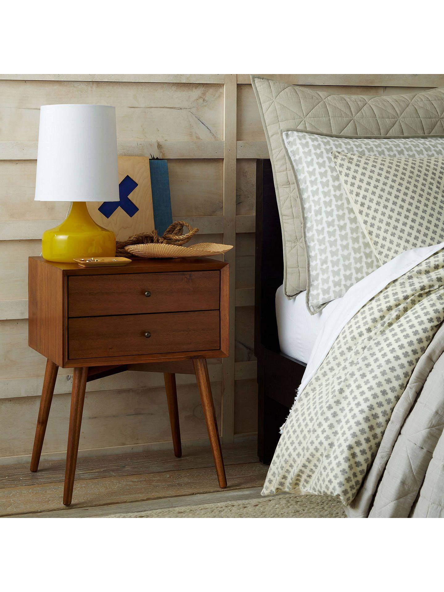 Best West Elm Mid Century Bedside Table Acorn In 2019 Mid 400 x 300