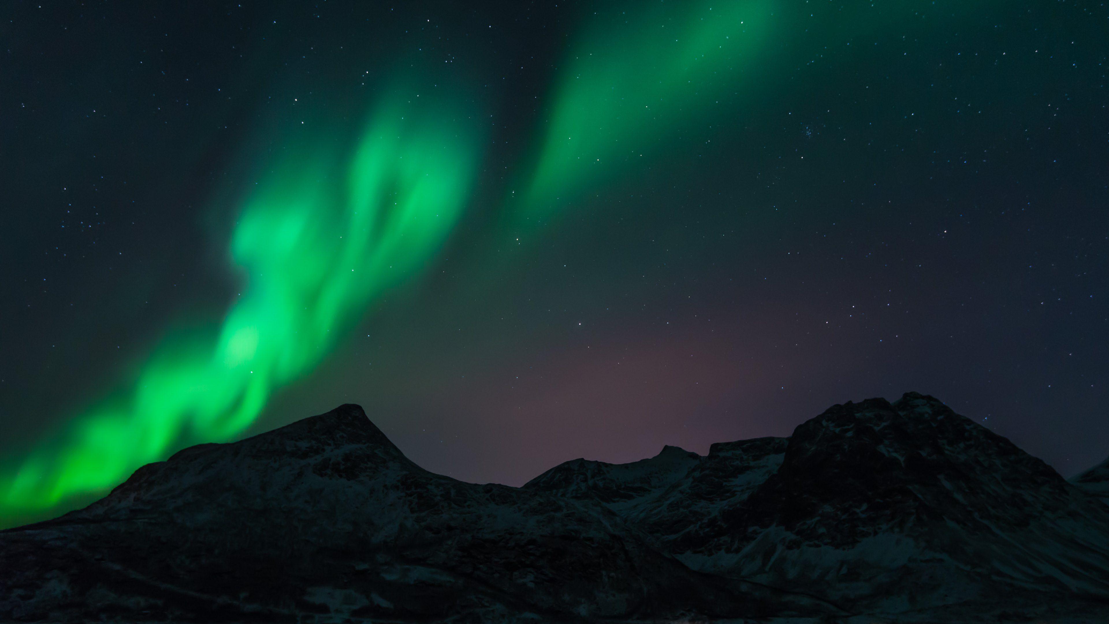 Fisheye Aurora Borealis 4K Ultra HD Wallpaper Aurora
