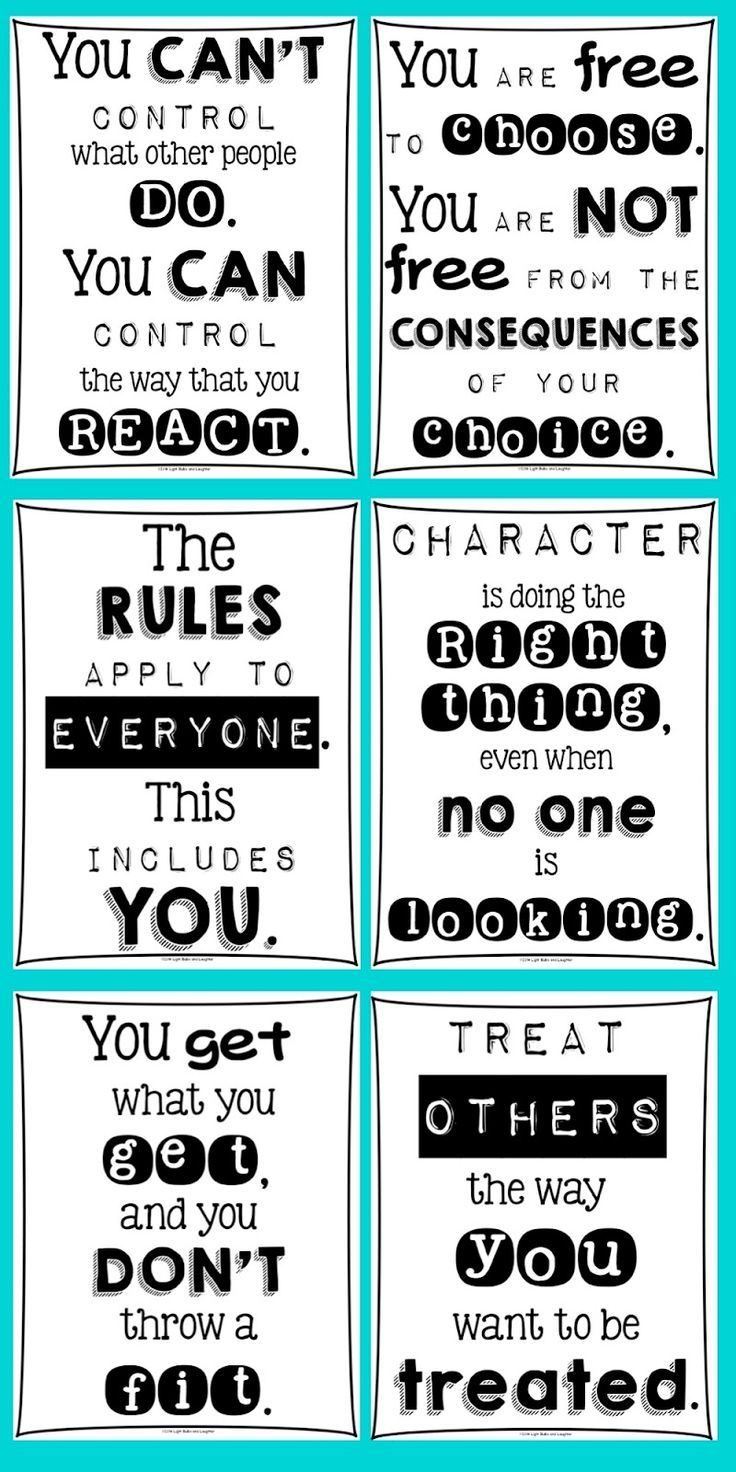 Classroom Posters For Every Teacher   Character education ...