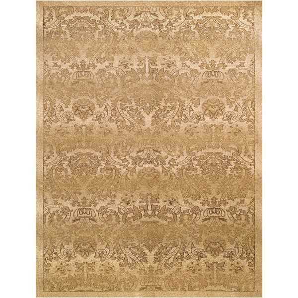 Foliage Collection Polypropylene Area Rug in Fawn by BD Fine (340 CAD) ❤ liked on Polyvore featuring home, rugs, chocolate brown rug, modern blue area rugs, dark brown area rug, blue pattern rug and chocolate rug