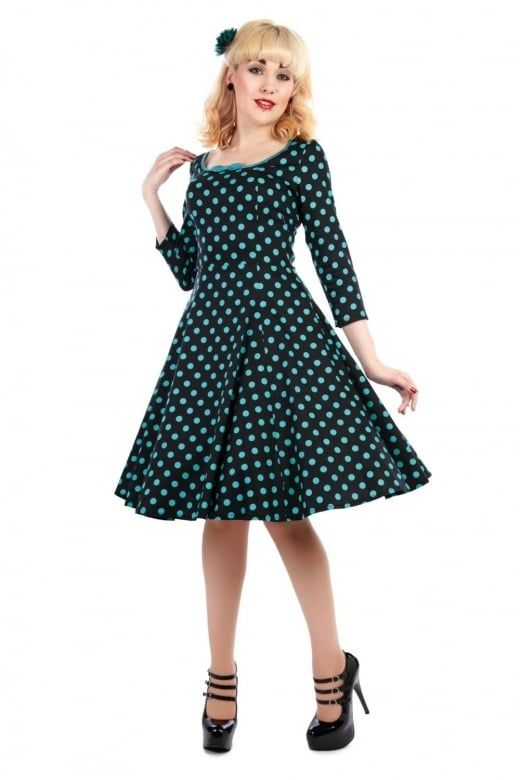 78d802d25a5 ... Vintage Dresses Inspired by Retro Fashion. Collectif Mainline Willow Polka  Dot Doll Dress - Collectif Mainline from Collectif UK