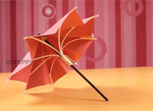 How to Make Paper Umbrellas - Easy Peasy and Fun | 218x300