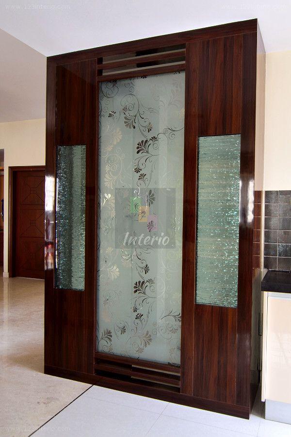 Pooja Room Door Design Room Door: The Client Had A Puja Or Prayer Room That Was More Like A