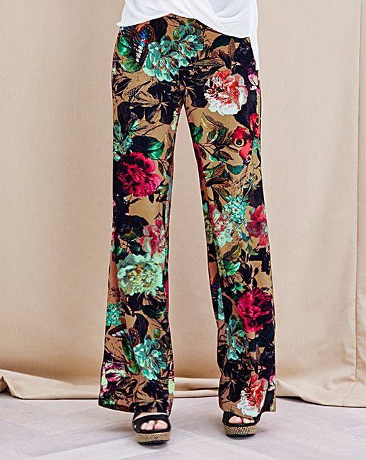 JOANNA HOPE Print Palazzo Trousers | Fashion World