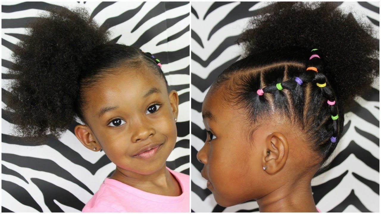 Piggy back side ponytail hairstyles for kids girls kids
