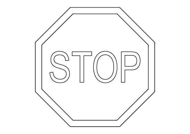 Audacieuse Imprimer coloriage panneau stop - Panneaux de la route famille YQ-56
