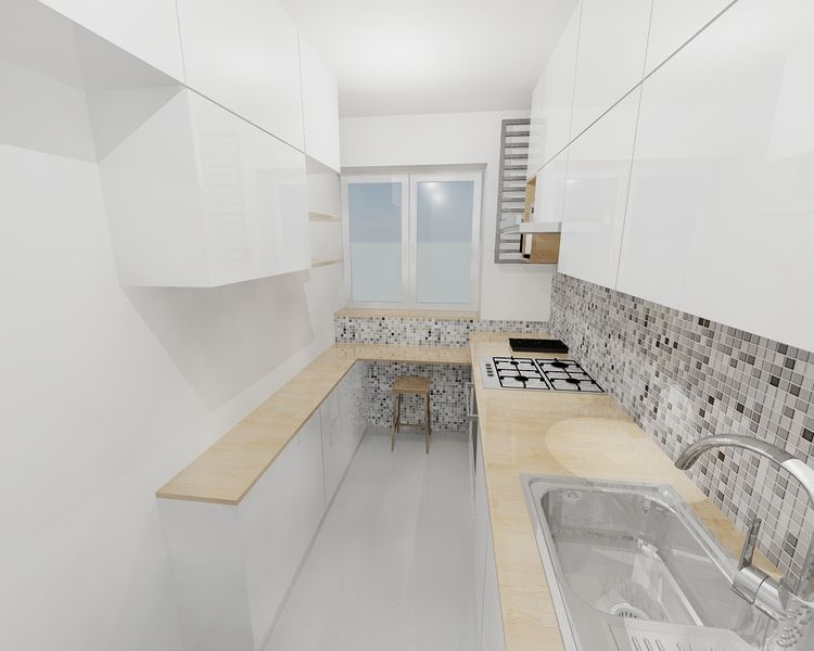 wąska kuchnia projekt  Szukaj w Google  Mieszkanie   -> Dluga Wąska Kuchnia W Bloku