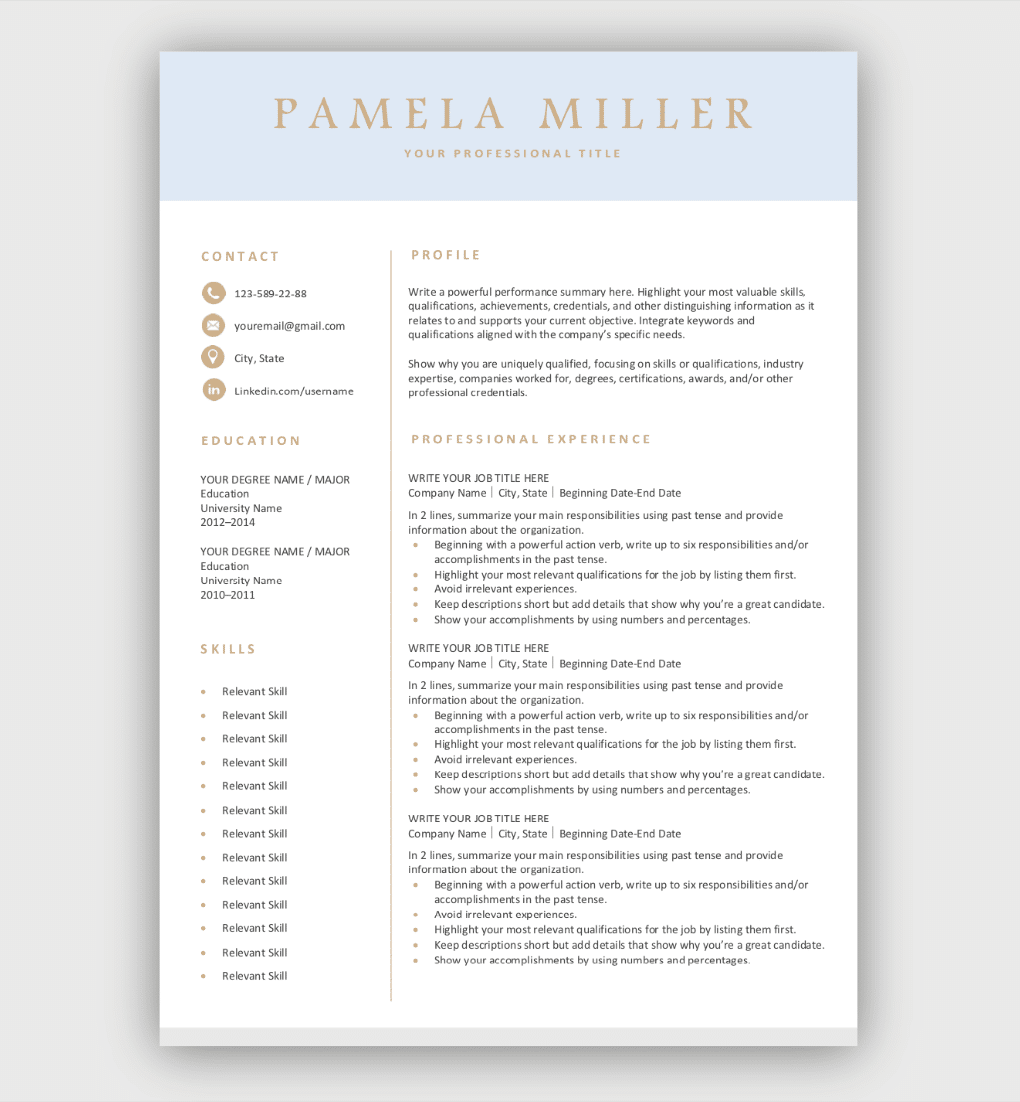 Professional Resume Template Download For Free In 2020 Free Resume Template Download Downloadable Resume Template Resume Template Free