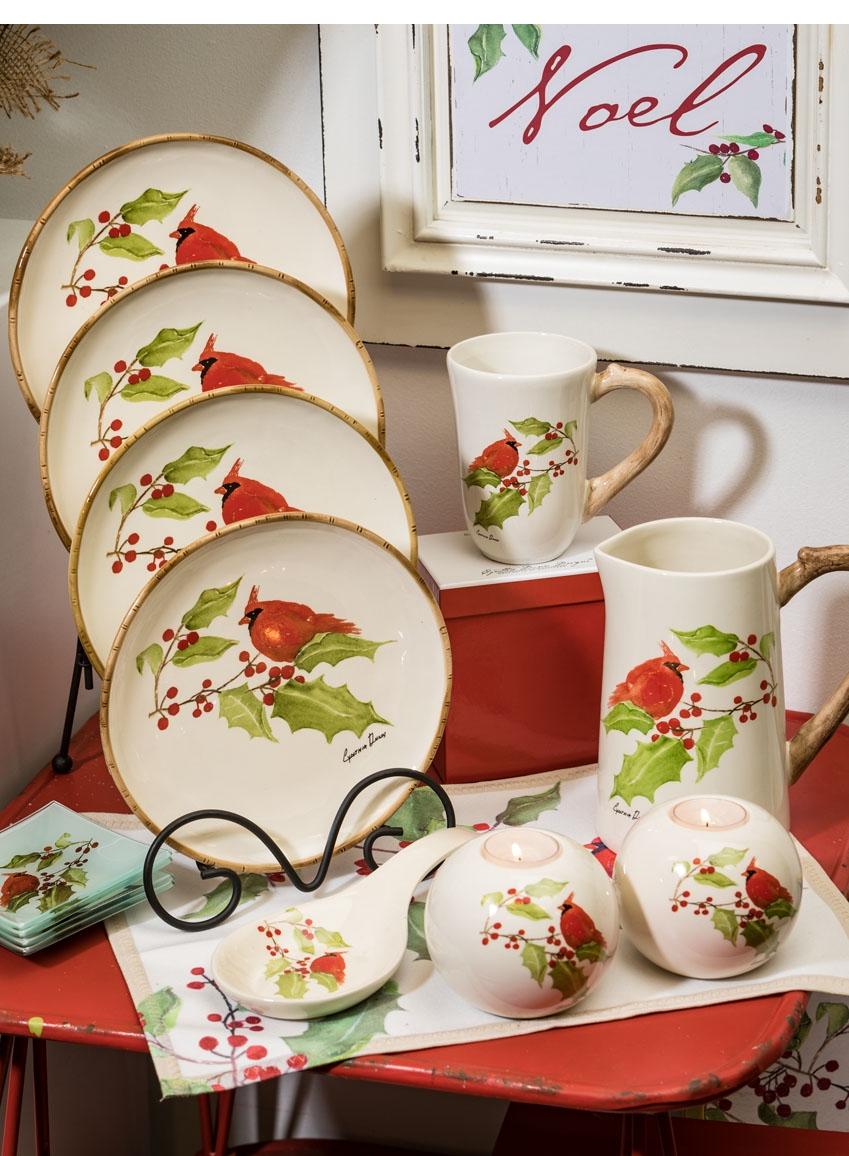 Wholesale Cardinal Plate, Cynthia Dunn Designs White