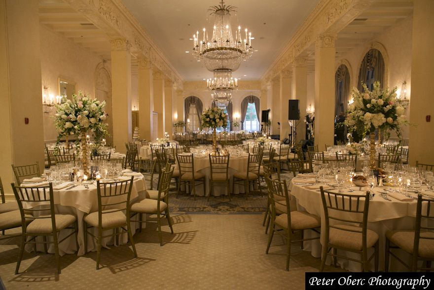An Image Of The Biltmore Room Set Up For A Wedding At Westchester Country Club