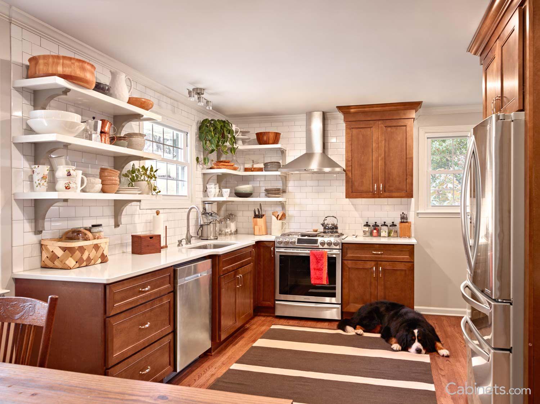 Portland RTA Birch Chestnut | Chestnut kitchen cabinets ...