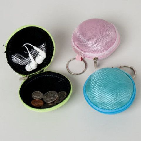 round zipper pouch with key ring Case of 24