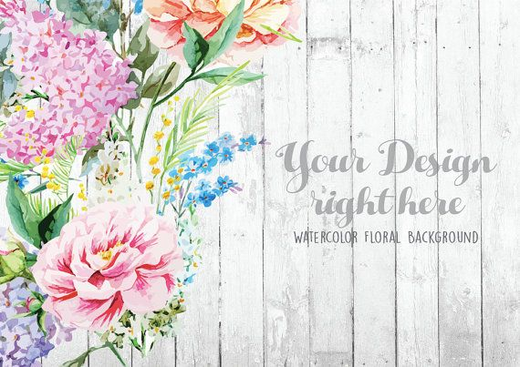 Retro Floral Background Rustic White Wood Mockup Hand Photoshop Mockup Free Free Business Card Mockup Floral Background
