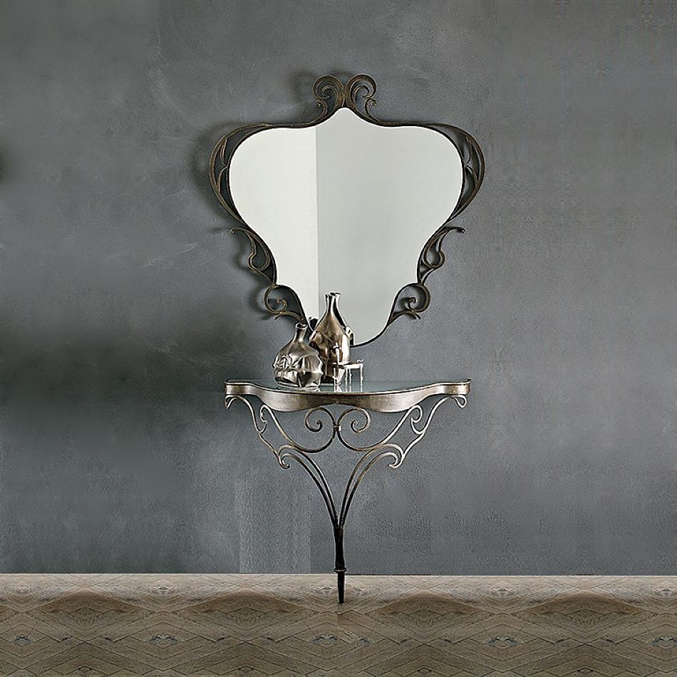 Lara Wrought Iron Dressing Table With Mirror By Target Point