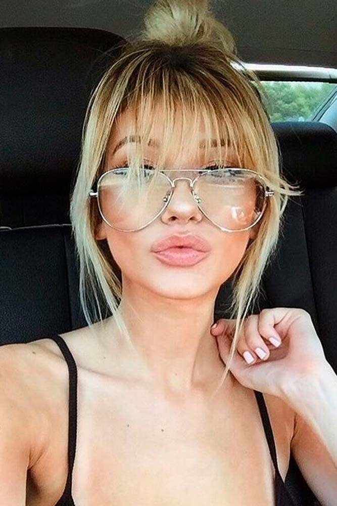 21 Nice And Flattering Hairstyles With Bangs Pinterest Bang Hair