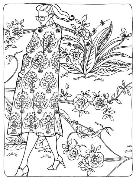 Color in Fashion Adult Coloring Book Review & Giveaway | coloriage ...