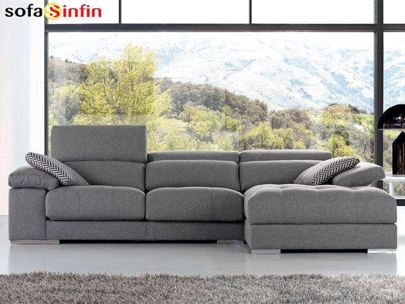Sof con chaise longue modelo trento fabricado por divani for Divani trento