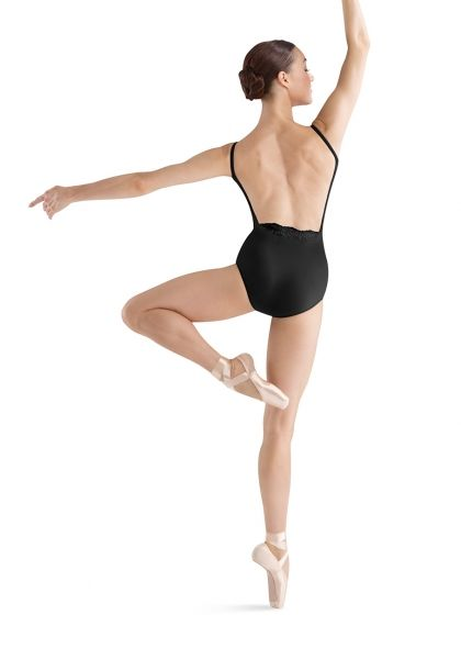 0535943389fc Bloch Taja camisole leotard featuring embroidery anglaise back ...