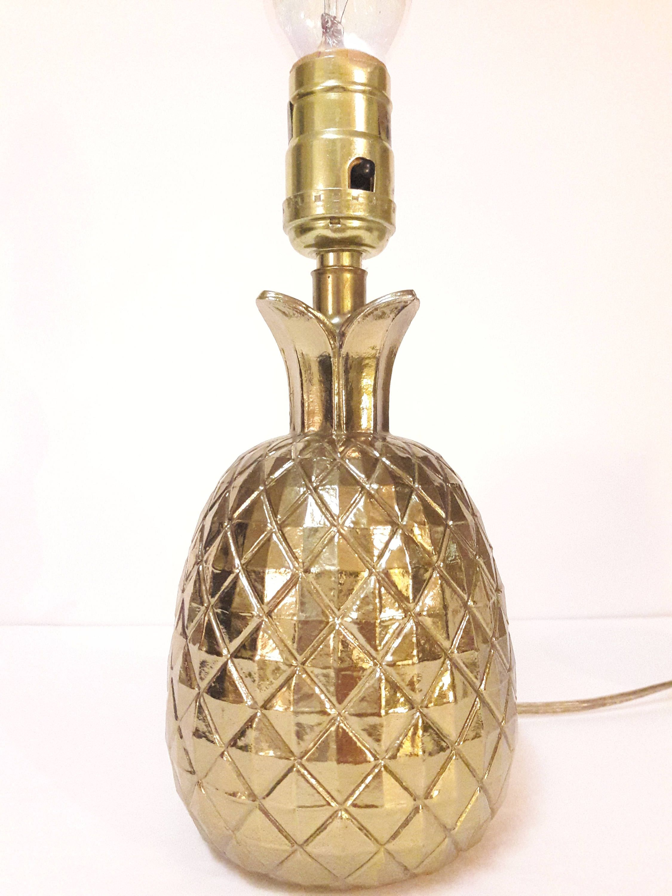 Charmant Vintage Hollywood Regency Brass Pineapple Lamp, Small Table Top Lamp, Desk  Lamp By Coinjewelrystuff