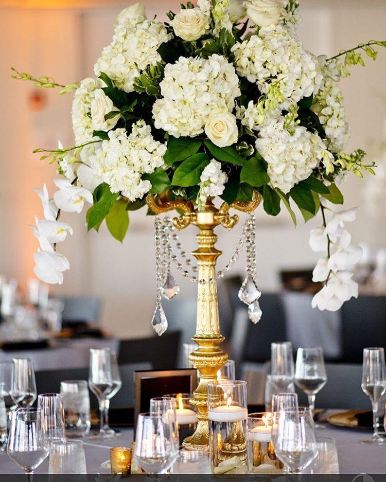 Sometimes...less is more ❤️ #jennyorsinievents #tallcenterpiece #hydrangea #orhids #goldcandelabra #whiteandgold #weddingstyle #weddingdesign #weddingdetails #njweddingflorist #njweddingplanner #njeventplanner #simplicity #elegance #weddingcenterpiece #weddingplanning #elevatetheordinary #impressyourguests #partyplanner #bling #roses @atoeevents