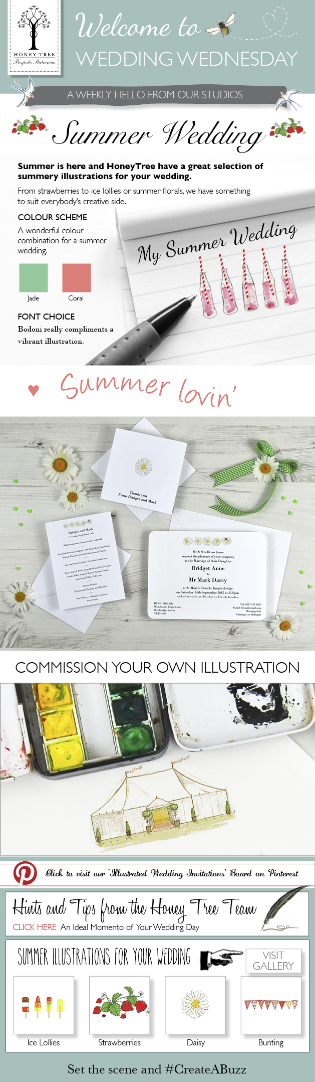 Inspiration for a Summer Wedding from HoneyTree that #CreateABuzz