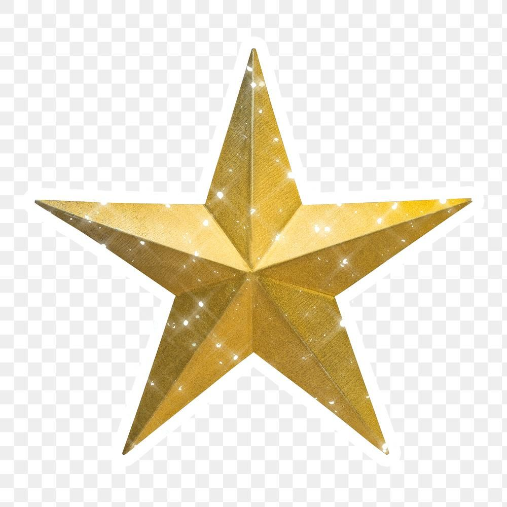 Sparkling Gold Star Sticker With White Border Free Image By Rawpixel Com Manotang In 2021 Gold Star Stickers Gold Stars Star Stickers