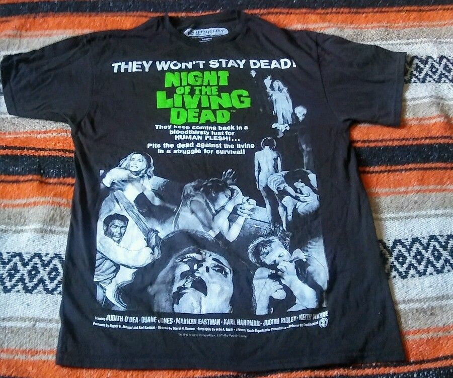 Romero horror movie NIGHT OF THE LIVING DEAD T-shirt George A