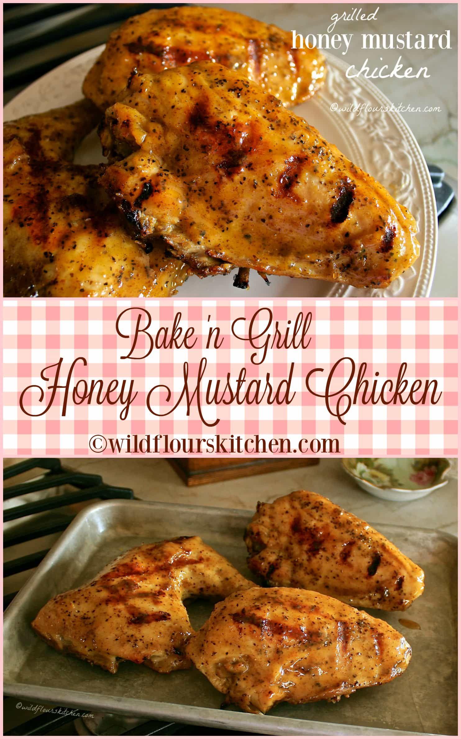 Bake n grill honey mustard chicken recette a table