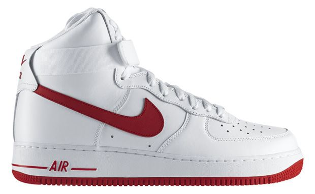 best sneakers dae6a a45f8 Nike Air Force 1 High White Varsity Red