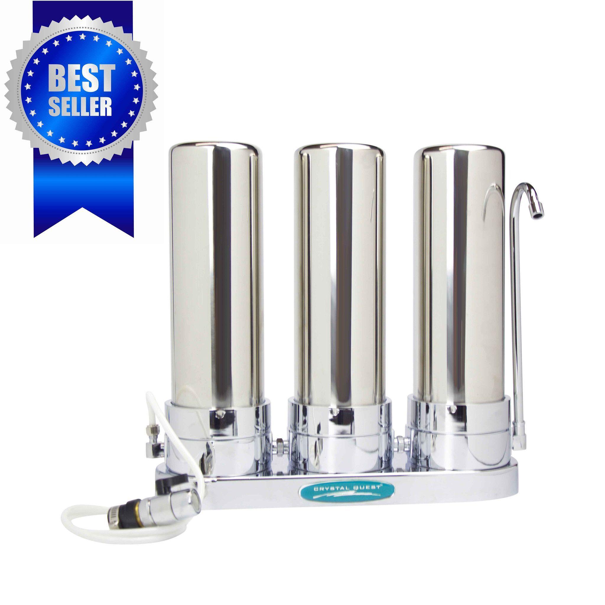 Triple Cartridge Countertop Water Filter System Countertop Water