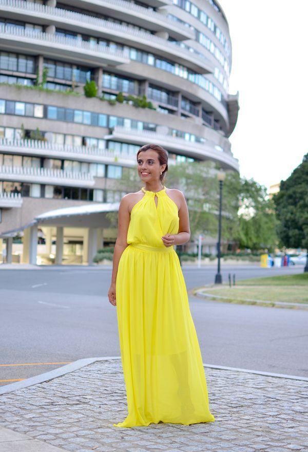 6bfdb0d7ba Excelentes vestidos de moda color amarillo