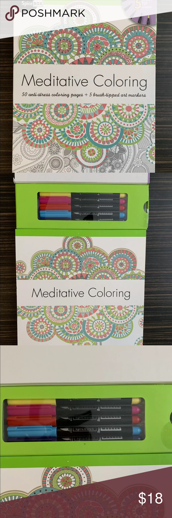 Spicebox Meditative Coloring Book Anti Stress Spicebox Anti Stress Coloring Book Over 50 Pag Meditative Coloring Stress Coloring Book Anti Stress Coloring Book