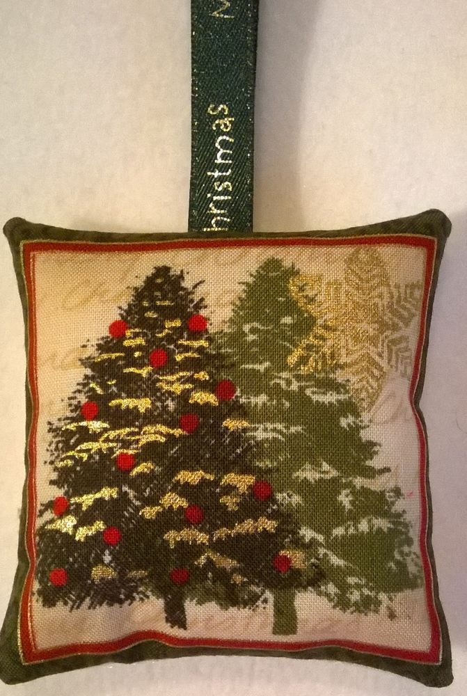 Christmas Tree Fabric Lavender Bag / Christmas Gift / xmas