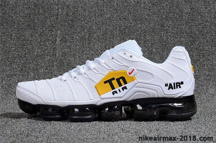 Hot Nike Air VaporMax TN KPU Mens Sneaker White Black For