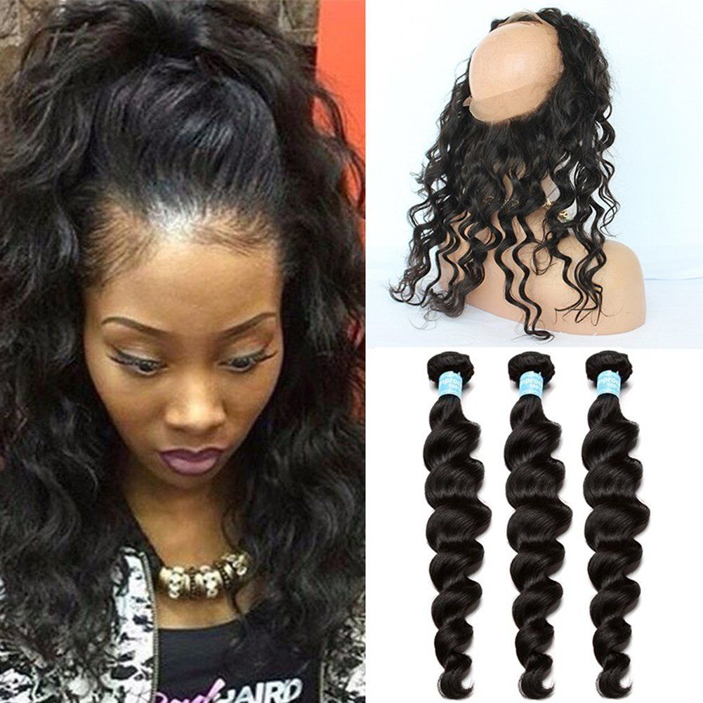Ruma Hair 360 Ear To Ear Full Lace Frontal With Bundles 8a