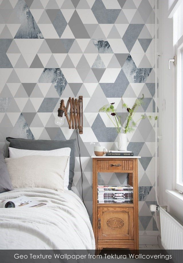 Geo Texture Wallpaper From Tektura Wallcoverings Boys Room