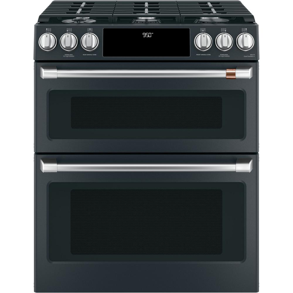 Cafe 30 In 7 0 Cu Ft Slide In Double Oven Dual Fuel Range With