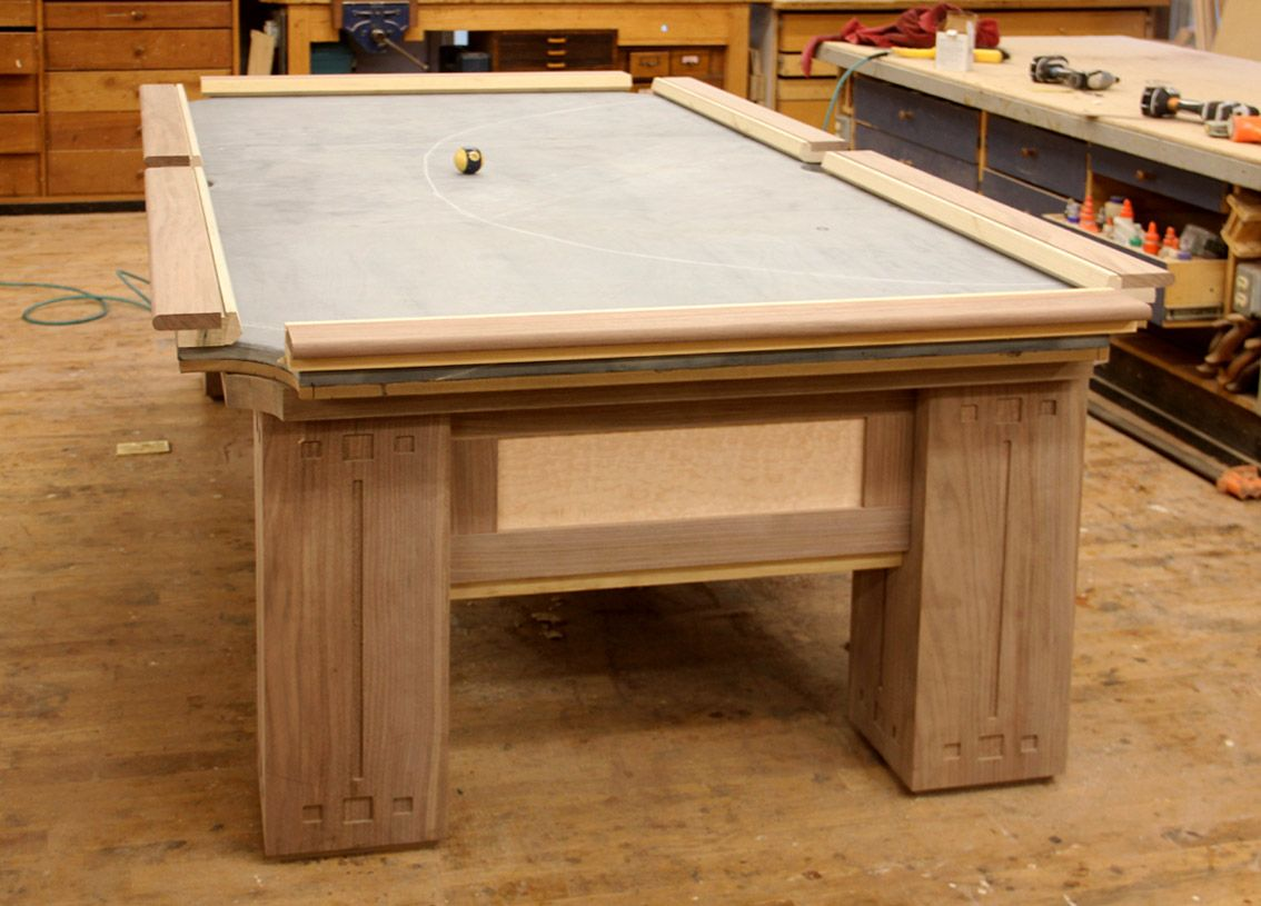 Custom Pool Tables | And In This Case, We Made The Mortises For The Inlays