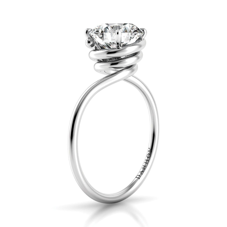 Danhov Abbraccio Swirl Engagement Ring Style AE136