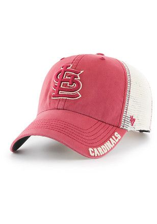 online store 8fcfb f60f9  47 St Louis Cardinals Mens Red Frontier Clean Up Adjustable Hat.