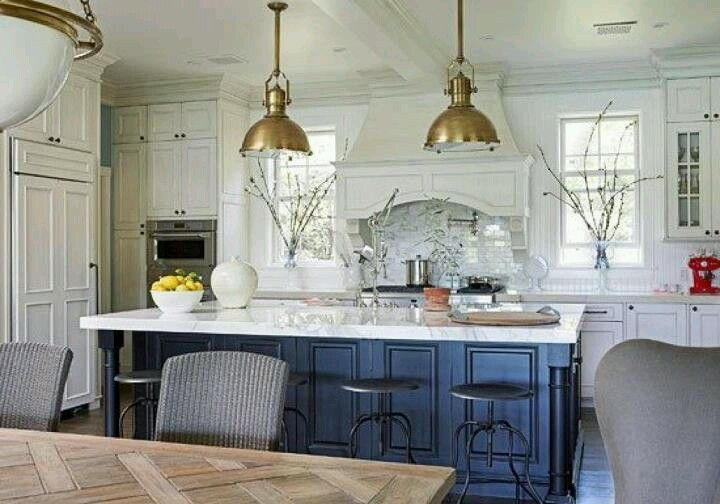 blue island with images blue kitchen island home kitchens kitchen design on farmhouse kitchen navy island id=79913
