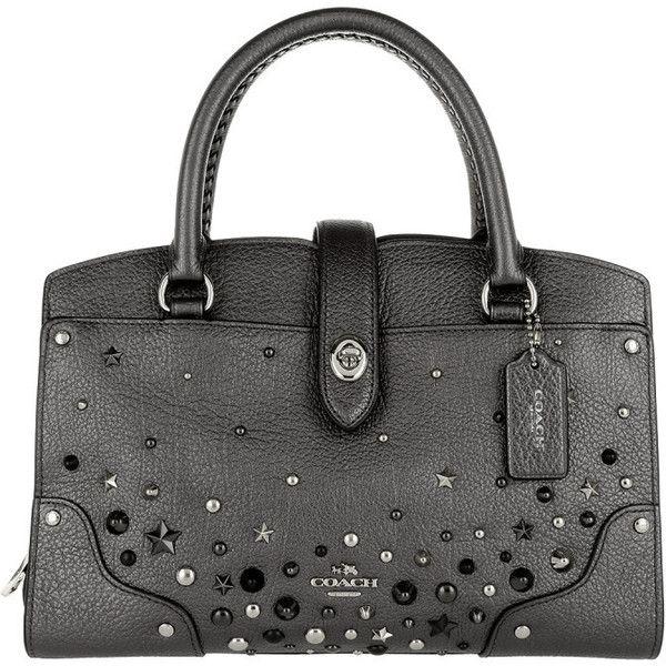 Satchel Bags - Star Rivets Mercer 24 Satchel Metallic Graphite - green, silver, grey - Satchel Bags for ladies Coach