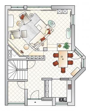 Vom ungemütlichen Saal zum behaglichen Wohn-Ess-Zimmer | Schöner Wohnen