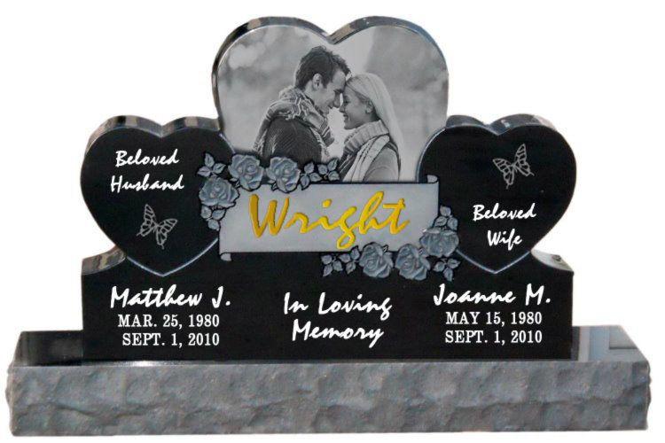 Companion Headstones Cemetery Memorials Double