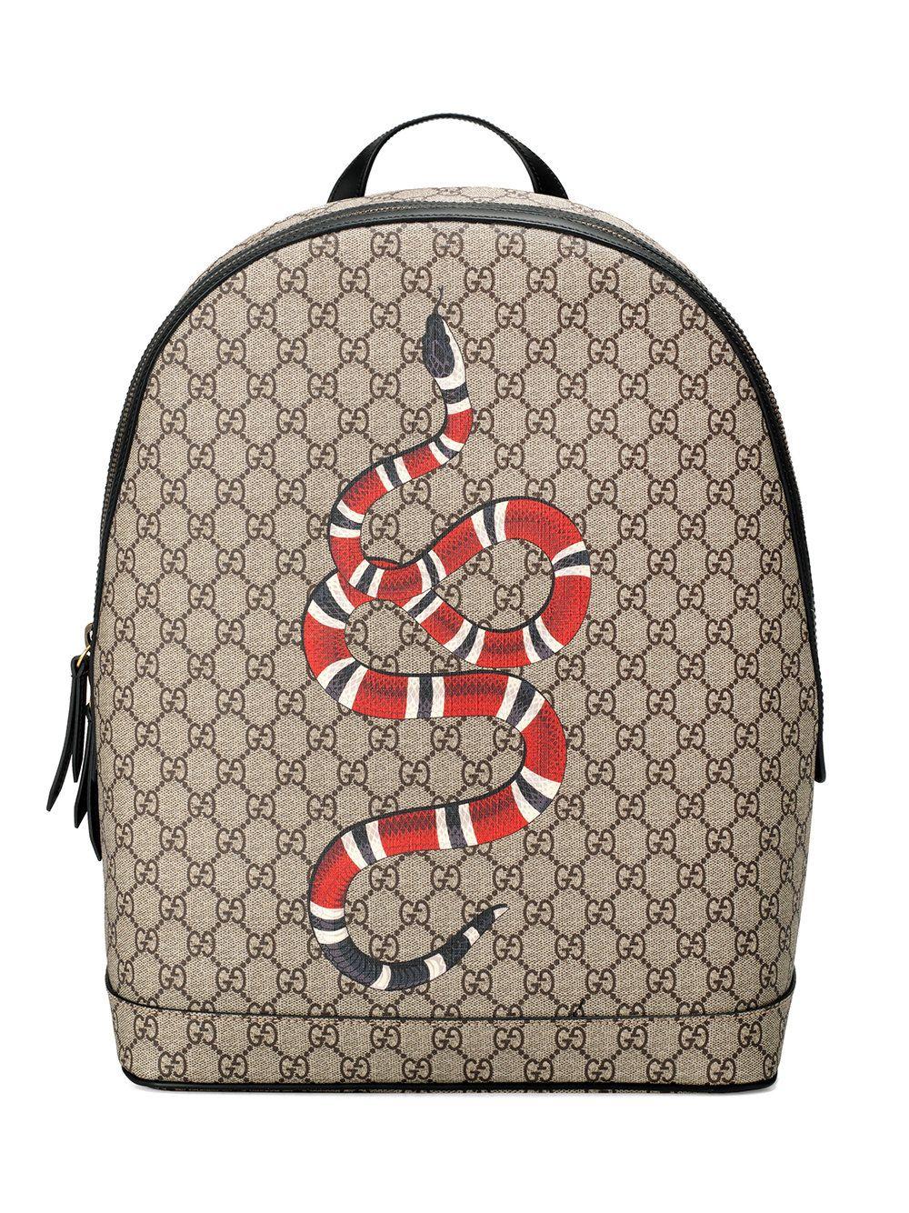 294f55d83 Gucci Mochila GG Supreme estampa 'Kingsnake' | Gucci <3 | Bolsos ...