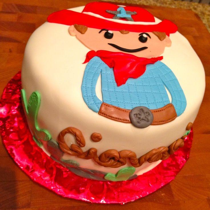 Babys First Birthday Cowboy Hats Cowboys 1st Birthday Cake Books