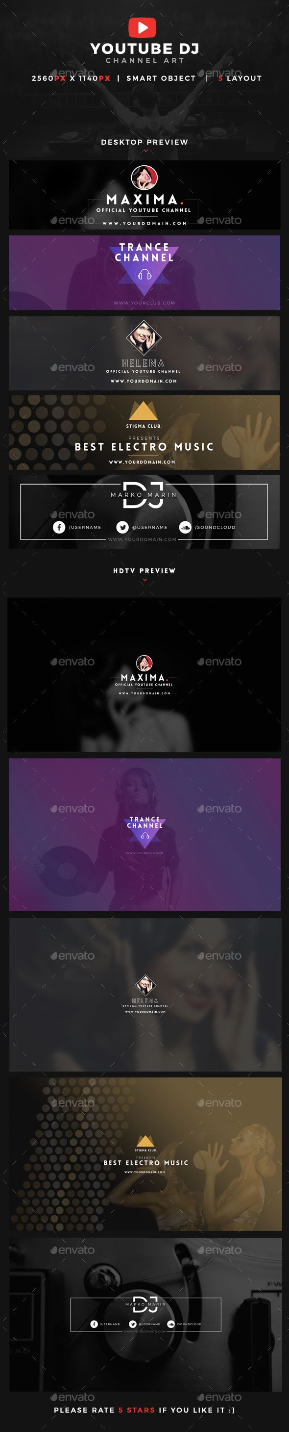 Electronic music event facebook post banner templates bundle 2 youtube dj cover channel art template psd download here httpgraphicriver facebook bannerfacebook pronofoot35fo Image collections